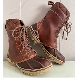 LL Bean Bar Harbor Brown Winter Boots Sz 7